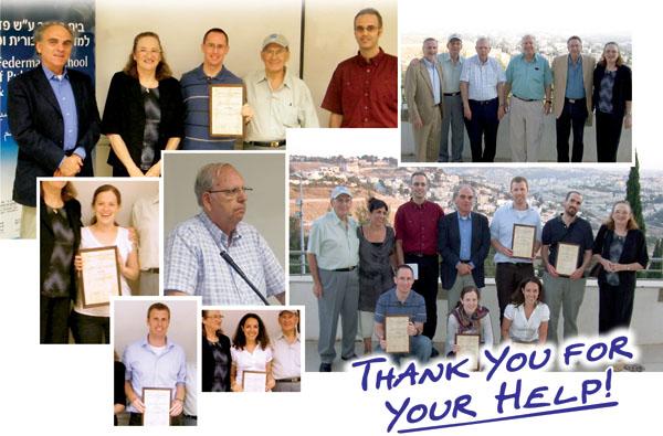 Hebrew University of Jerusalem students recipients of the David Diego Ladowski Memorial Merit Scholarships